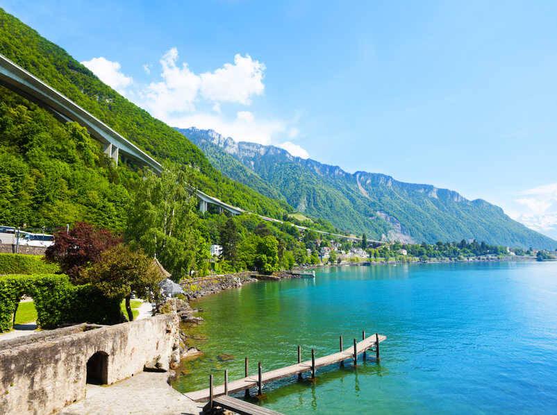 Le lac pr�s de Gen�ve