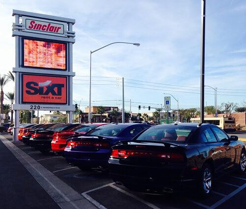 Voiture Las Vegas le Parking de Sixt à Las Vegas