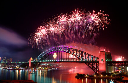 Le feu d'artifice du Nouvel An à Sydney