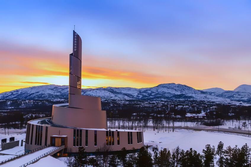 la cathedrale de alta en norvege
